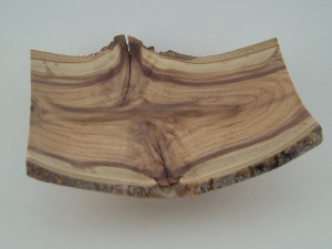 """Distressed Pistachio # 2128950 Diameter - 4"""" X 4-1/2"""" Height - 1-3/4"""" Wood used - Salvaged pistachio from old orchard"""